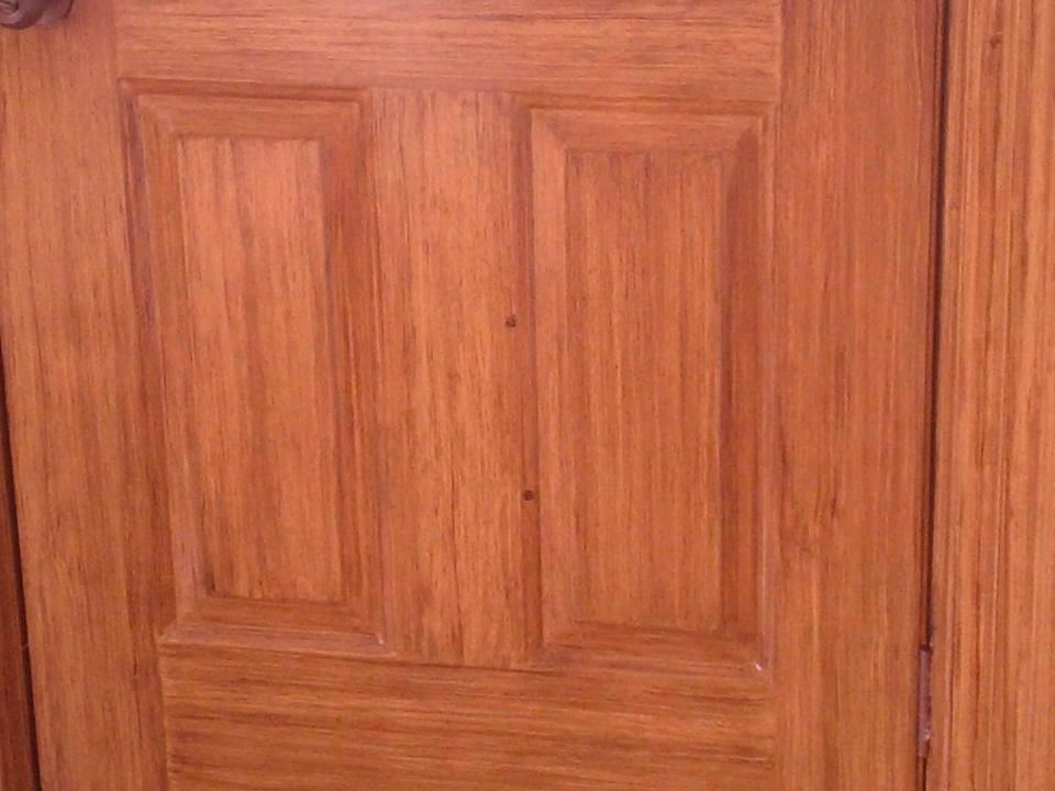 Porte en metal immitation de bois peint beaulieu d cor for Porte en metal
